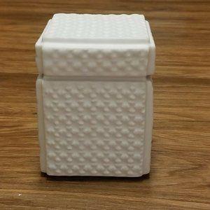 Global Views Ceramic Dimple Box Matte White 6 x 4.